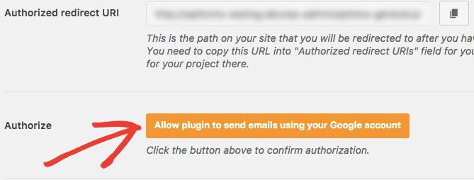 Gmail ile e-posta göndermek için eklentiyi yetkilendirme