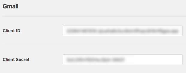 İstemci Kimliği ve İstemci gizli anahtarını WP Mail SMTP ayarlarına kopyalama