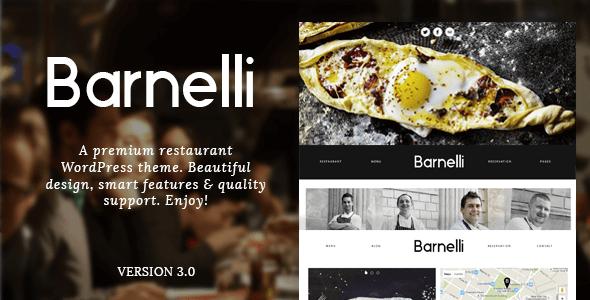 Barnelli - Responsive WordPress Restoran Teması