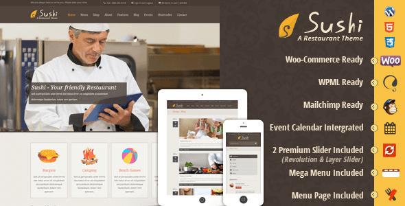 Sushi Restoran | WordPress Yemek ve Restoran Teması
