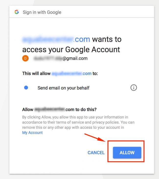 Sitenin e-posta göndermesine izin verme
