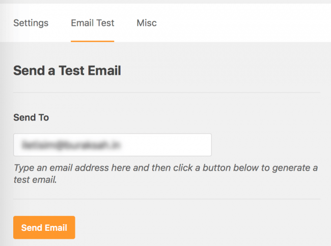 WP Mail SMTP aracılığıyla bir test e-postası gönderin